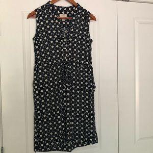 LOFT Tie Waist Dress with Pockets! size XS